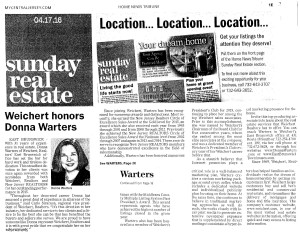 Donna Warters Newspaper Feature